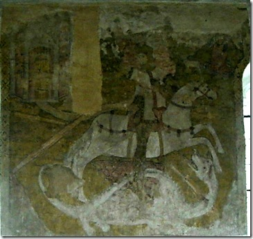 St George wallpainting, Fritton