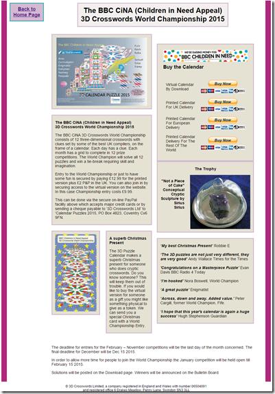 3D Crossword Puzzles   Visual Clues