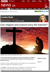 BBC News   Can religion and science bury the hatchet