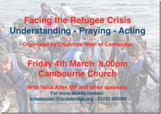 Refugee meeting poster