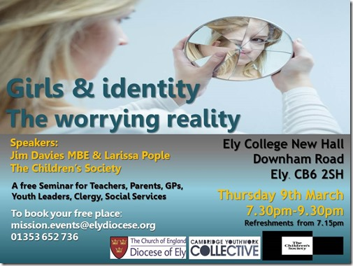 Girls  Identity - Seminar Event Poster 9th March 2017