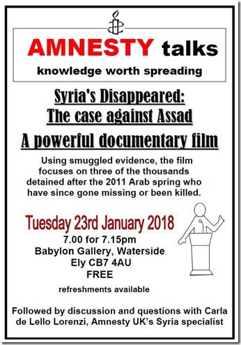 Poster Talk 1 - January 2018